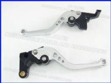Yamaha FZ1 FAZER (06-13), CNC levers short silver/black adjusters, F16/Y688